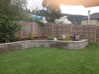 Finished Retaining Wall Sandy Oregon