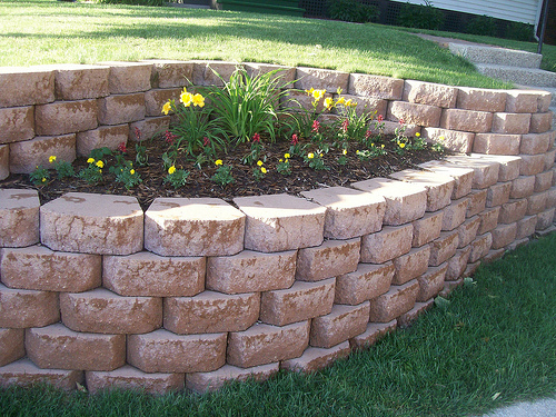Undulating Retaining Wall